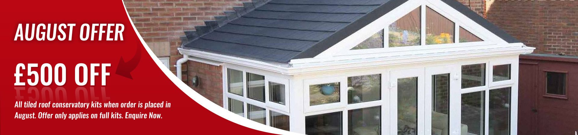 £50 Deposit - DIY Conservatories September Offer