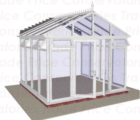 Gable end full height glass