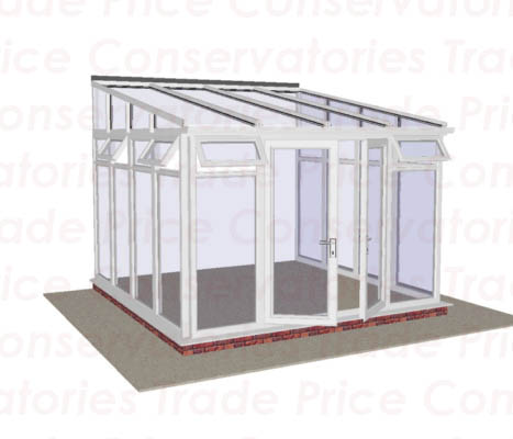 Lean to full height glass