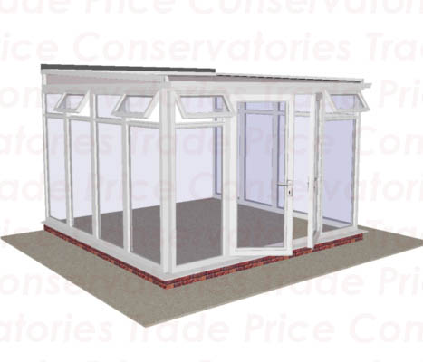 Lean to low pitch full height glass