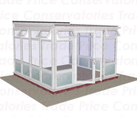 Lean to low pitch full height raised panels