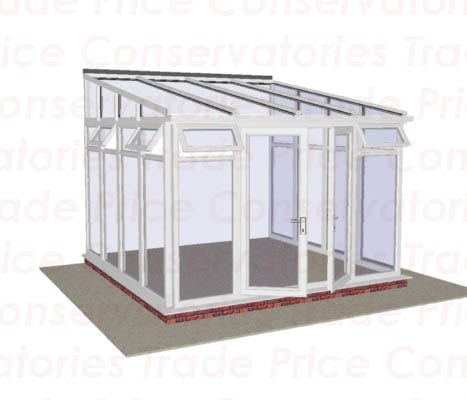 Lean To Diy Conservatory Full Height Glass Trade Price