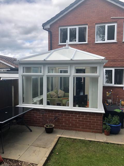 elaine and matt tiled roof conservatory review 1. before photo