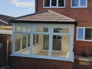 elaine and matt tiled roof conservatory review 2. before photo
